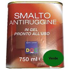 Smalto Sintetico Antiruggine E Di Finitura In Gel 0,75 Lt Verde Lucido - 33007
