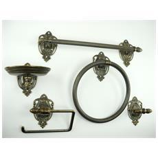 WC28. Set da bagno ottone brunito accessori da 5 pezzi