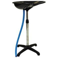 Lavatesta portatile professionale Melcap con tubo di scarico e altezza regolabile