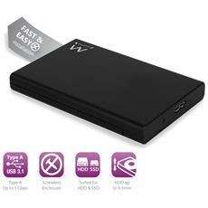 """Box Esterno per Disco Rigido SATA 2,5"""" Interfaccia USB 3.1 Senza Viti"""