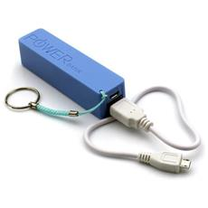 Power Bank Caricabatteria Portatile 2600 Mah Colore Blue Pb01b