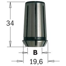 Pinza Elastica Per 1e-2e /dewalt/felisatti/fein/metabo (mm19.6x34) D=6.35mm 796.864.00