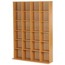 Mobile Libreria 24 Scomparti, Legno Naturale, 130.5x89x20cm