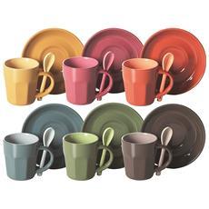 EXCELSA - Confezione sei tazze Caffe' con Cucchiaio Abbraccio
