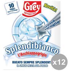 Set 12 Splendibianco X 10 Fogli Detergenti Casa