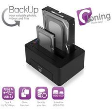 Docking Station USB 3.1 HDD / SSD SATA da 2,5 e 3,5 pollici