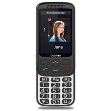 "SL750 Senior Phone Display 2.8"" con Tasti Grandi + Tasto SOS Bluetooth Colore Nero e Argento - Europa"