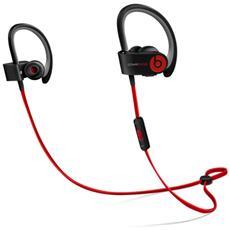 Powerbeats2 Auricolari con microfono sportivi Wireless - Rosso / Nero RICONDIZIONATO