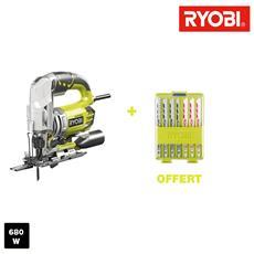 Pendolino Elettrico Puzzle Ryobi 680w 105mm Legno - 10 Pale In Legno Rjs1050-ka10