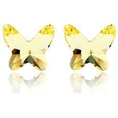 Orecchini Farfalla Cristallo Swarovski Elements Giallo - Gs 051 Jaune