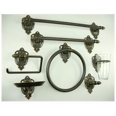 WC23. Set da bagno ottone brunito accessori da 7 pezzi