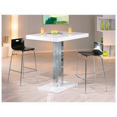 Tavolo Bar Moderno 120x80 Cm - Mdf Laccato Bianco