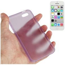 Custodia Ultra Sottile 0.3mm Per Iphone 5c Viola Trasparente