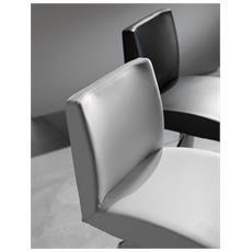 Sgabello Maxim-ecopelle Testa Di Moro Sedute Comode, Confortevoli Di Design
