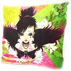 cuscino decorativo 'fairy dreams' verde rosa - [ k5379]