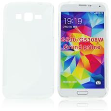 Custodia Back Lux per Samsung Galaxy Core Prime G360, Core Prime Lte G361F Bianco S Line