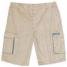 Pantalone Corto Goodyear In Poliestere E Cotone Colore Khaki Taglia 4xl