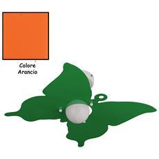 Plafoniera Farfalla Arancio Per Camerette Stanzette Bambini