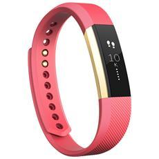 Alta Braccialetto Wireless taglia L per monitoraggio Attività fisica e Sonno - Rosa / Oro