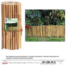 Bordo Ornamentale Per Giardino In Legno Bamboo (''h'' 30 Cm)