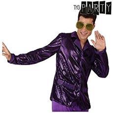 Giacca Per Adulti Th3 Party Disco Brillante Viola M / l