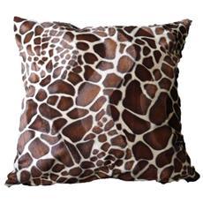 O' Cbo Cuscino Sfoderabile Pelliccia Giraffa 42x 42cm Beige E Marrone