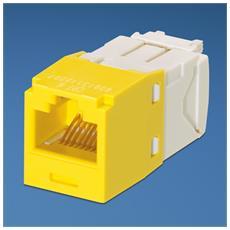 UTP RJ-45 MiniJack kat6, yellow Giallo cavo di interfaccia e adattatore