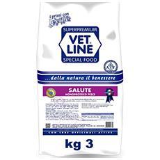 Crocchette Per Cani Vet Line Salute Monoproteico Pesce 3 Kg
