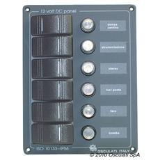 Pannello verticale 6 interruttori