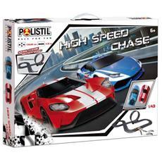 Pista High Speed Chase Con 2 Veicoli 1:43