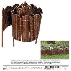 Bordo Ornamentale Per Giardino In Salice Ad Arco (''h'' 40 Cm)