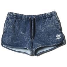 Pantaloncino Donna Denim Short Blu M