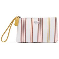 Borsa Donna Striped Clutch Bag Unica Bianco Rosa