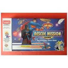 """Vintage 2001 Superman Rescue Mission Board Game With 5"""" Figure Ages 4-10"""
