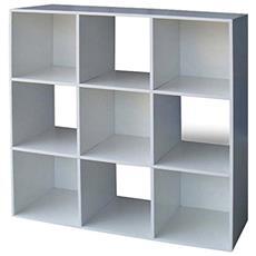 Libreria Scaffale Dal Design Moderno A 9 Cubi Da Terra Con Ripiani A Giorno Ideale Come Arredo Casa O Divisorio Per Ambienti Grandi