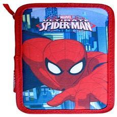 Astuccio Spiderman Marvel 3 Zip 20x13x6.5cm Uomo Ragno Accessoriato Scuola Bambini