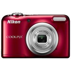 """Coolpix A10 Rosso Sensore CCD 16Mpx Zoom ottico 5x Display 2.6"""" Filmati HD RICONDIZIONATO"""