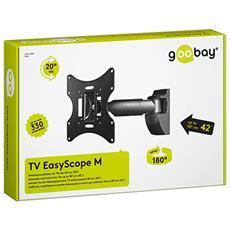 TV EasyScope M, 200 x 200 mm, Nero, -20 - 20°, -90 - 90°, M, Scatola