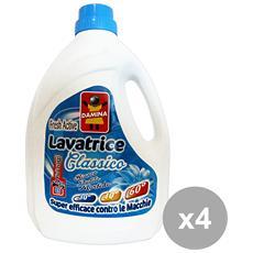Set 4 Lavatrice Liquido 45 Mis= 3 Lt. Classico Detergenti Casa