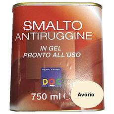 Smalto Sintetico Antiruggine E Di Finitura In Gel 0,75 Lt Avorio Lucido - 33006