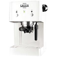Gran Gaggia Style Macchina da Caffè Espresso Manuale Serbatoio 1 Litro Potenza 950 Watt Colore Bianco