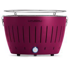 Barbecue da Tavolo Colore Viola Prugna