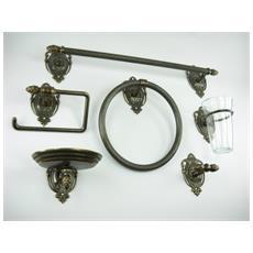 WC27. Set da bagno ottone brunito accessori da 6 pezzi