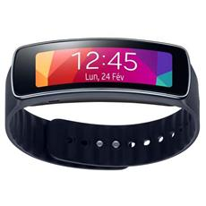 Smartwatch Gear Fit Impermeabile Display 1.84'' Bluetooth con Cardiofrequenzimetro Incluso Colore Nero