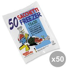 Set 50 Freezer Bustina 15x30 X 50 Pz Contenitori Per La Cucina