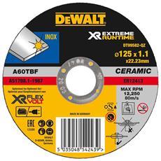 Disco Da Taglio Ceramico Xr Flexvolt Per Materiali Ferrosi Diametro 125 Mm - Spessore 1,1 Mm