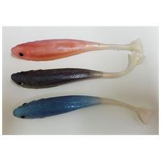 Set 3 Pezzi Pesci Esche Artificiali In Gomma Silicone Per Pesca Lago Fiume