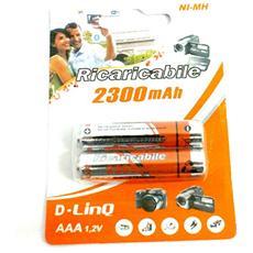 Batterie Ricaricabili Mini Stilo 2300mah Conf. 2 Pz