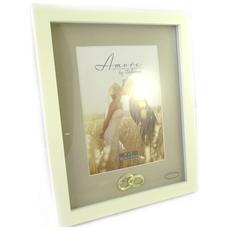 cornici portafoto 'romance' avorio (13x18 cm) alleanza dorato - [ m7729]