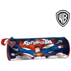 Astuccio Tombolino Portapastelli Superman Warner Bros 22 Cm Bambini Scuola
